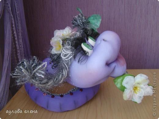 Мастер-класс Новый год Шитьё Змейка делаем мордочку Капрон Проволока фото 44