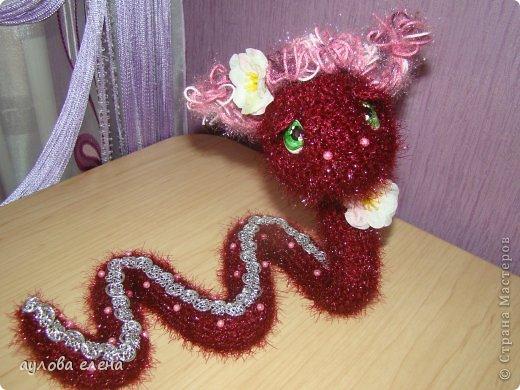 Игрушка Новый год Вязание крючком Шитьё Радужные змейки Капрон Проволока Пряжа фото 4