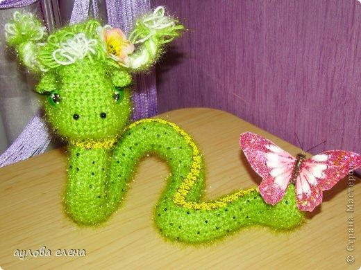 Игрушка Новый год Вязание крючком Шитьё Радужные змейки Капрон Проволока Пряжа фото 5