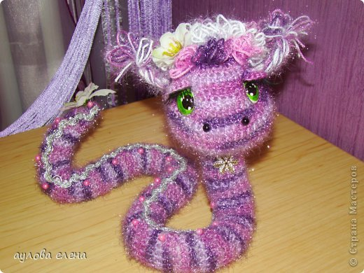 Игрушка Новый год Вязание крючком Шитьё Радужные змейки Капрон Проволока Пряжа фото 2