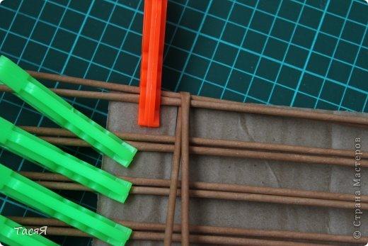 Поделка изделие Плетение Пробуем прямоугольное плетеное дно 3-месячной годовщине плетения посвящается Бумага фото 6