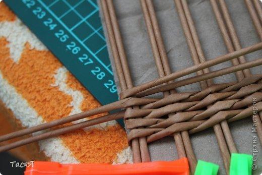 Поделка изделие Плетение Пробуем прямоугольное плетеное дно 3-месячной годовщине плетения посвящается Бумага фото 14
