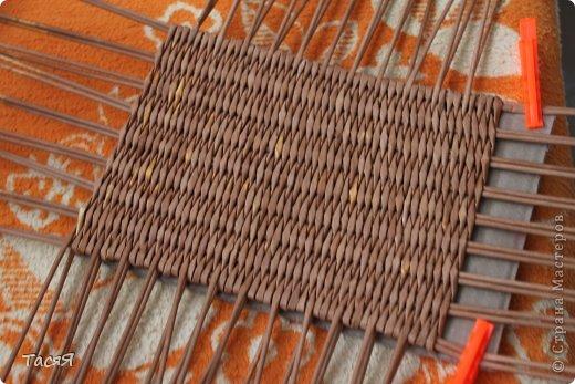 Поделка изделие Плетение Пробуем прямоугольное плетеное дно 3-месячной годовщине плетения посвящается Бумага фото 19