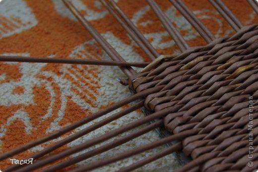 Поделка изделие Плетение Пробуем прямоугольное плетеное дно 3-месячной годовщине плетения посвящается Бумага фото 20
