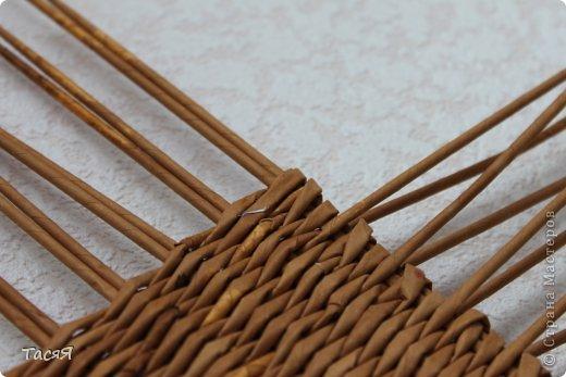 Поделка изделие Плетение Пробуем прямоугольное плетеное дно 3-месячной годовщине плетения посвящается Бумага фото 21