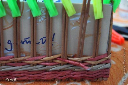 Поделка изделие Плетение Пробуем прямоугольное плетеное дно 3-месячной годовщине плетения посвящается Бумага фото 24