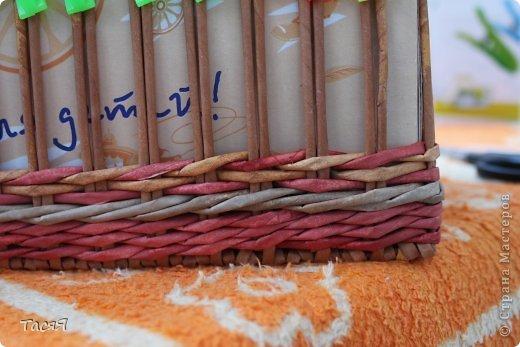 Поделка изделие Плетение Пробуем прямоугольное плетеное дно 3-месячной годовщине плетения посвящается Бумага фото 25