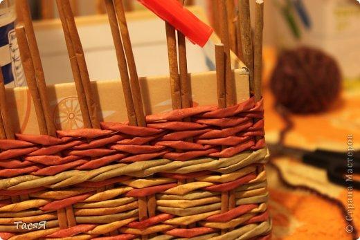 Поделка изделие Плетение Пробуем прямоугольное плетеное дно 3-месячной годовщине плетения посвящается Бумага фото 26