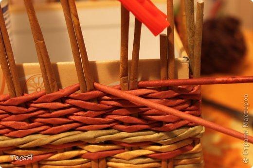Поделка изделие Плетение Пробуем прямоугольное плетеное дно 3-месячной годовщине плетения посвящается Бумага фото 27