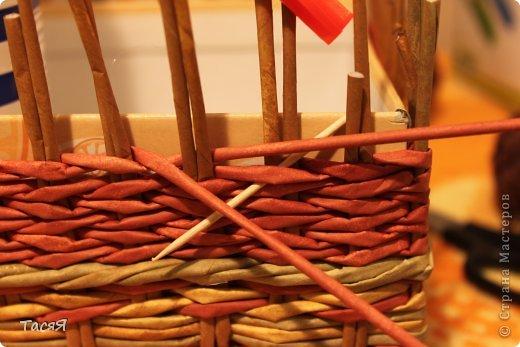 Поделка изделие Плетение Пробуем прямоугольное плетеное дно 3-месячной годовщине плетения посвящается Бумага фото 28