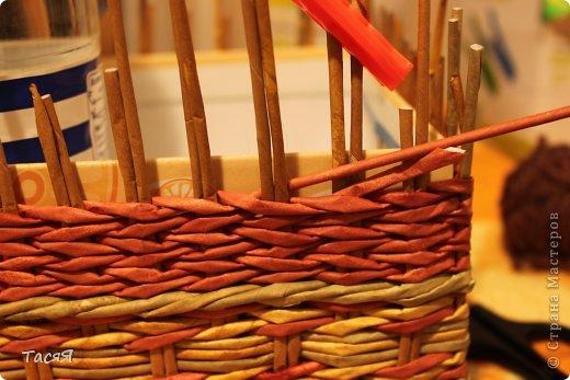 Поделка изделие Плетение Пробуем прямоугольное плетеное дно 3-месячной годовщине плетения посвящается Бумага фото 29