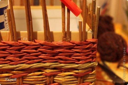 Поделка изделие Плетение Пробуем прямоугольное плетеное дно 3-месячной годовщине плетения посвящается Бумага фото 30