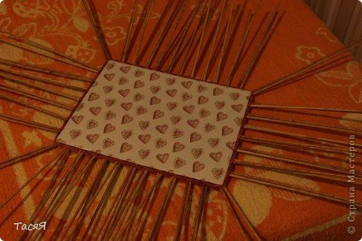 Поделка изделие Плетение Пробуем прямоугольное плетеное дно 3-месячной годовщине плетения посвящается Бумага фото 33