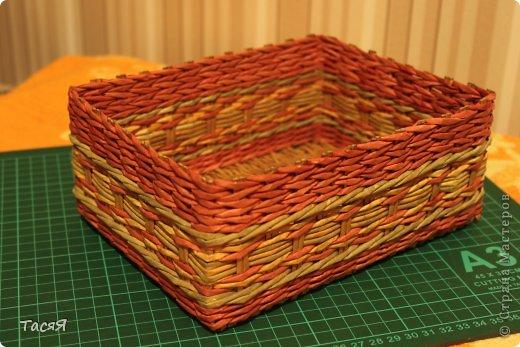 Поделка изделие Плетение Пробуем прямоугольное плетеное дно 3-месячной годовщине плетения посвящается Бумага фото 23