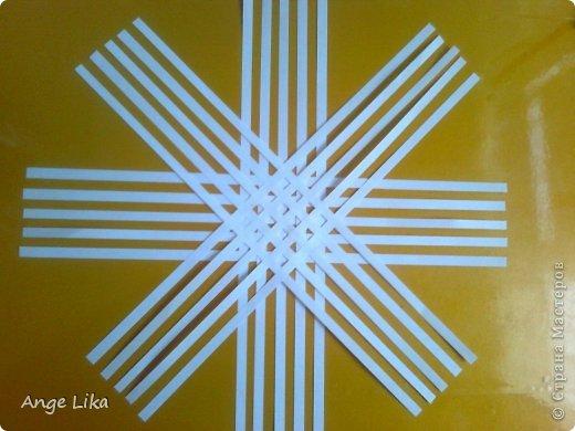 Мастер-класс Новый год Объемная воздушная снежинка Бумага фото 4