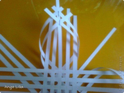 Мастер-класс Новый год Объемная воздушная снежинка Бумага фото 6