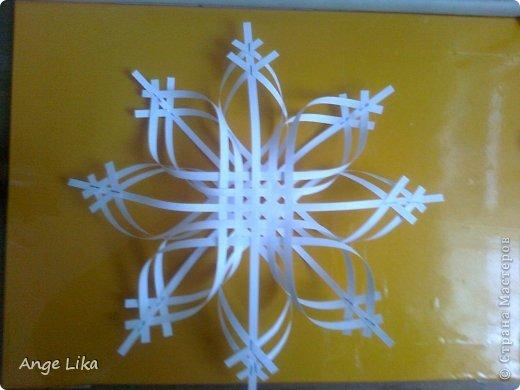 Мастер-класс Новый год Объемная воздушная снежинка Бумага фото 7