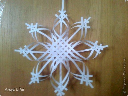 Мастер-класс Новый год Объемная воздушная снежинка Бумага фото 8