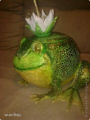 Поделка изделие День рождения Лепка Царевна-лягушка конфетница Гипс Клей Краска Скорлупа яичная фото 2