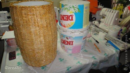 Поделка изделие Плетение Создание кофейного столика МК Бумага газетная фото 7