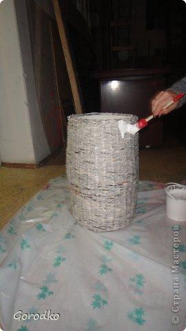 Поделка изделие Плетение Создание кофейного столика МК Бумага газетная фото 12