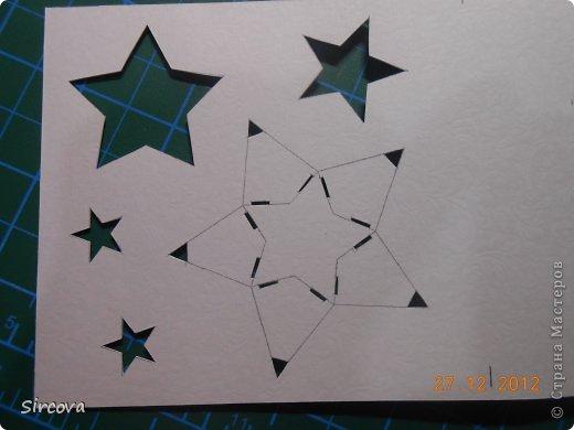 Мастер-класс Открытка Новый год Вырезание Новогодняя открытка Бумага фото 3