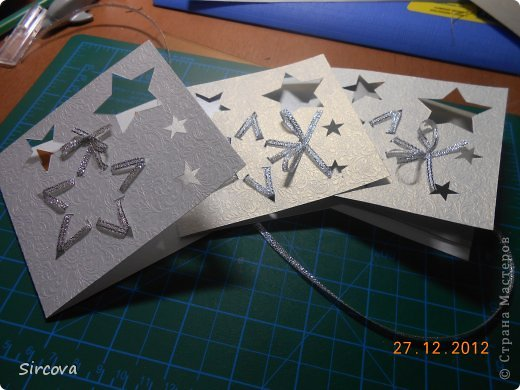 Мастер-класс Открытка Новый год Вырезание Новогодняя открытка Бумага фото 1