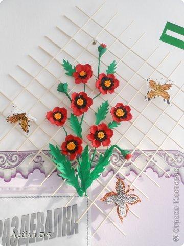 Картина панно рисунок Бумагопластика Панно Бумага фото 2