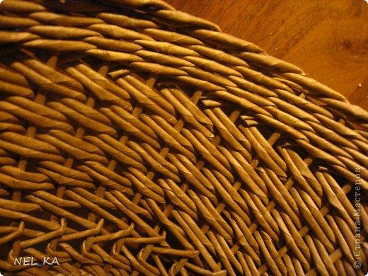 Поделка изделие Плетение Кашпо и немного о закрытии послойного плетения Бумага газетная Трубочки бумажные фото 12
