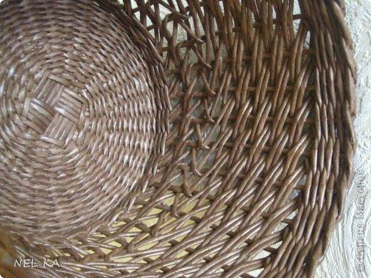 Поделка изделие Плетение Кашпо и немного о закрытии послойного плетения Бумага газетная Трубочки бумажные фото 13