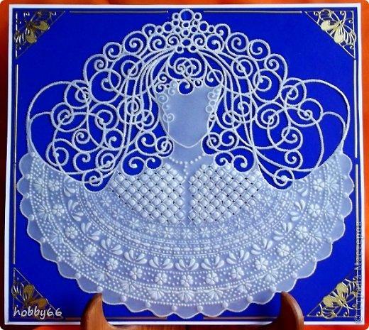 Картина панно рисунок 8 марта День рождения Пергамано Вот я говорю - Весна - говорю - Она говорит  Похоже - А я говорю  Краса - говорю - Она говорит  Ну и что же  Бумага Картон