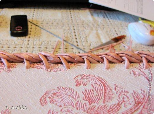 Мастер-класс Плетение Коса на дне коробочки Мастер-класс Бумага газетная Трубочки бумажные фото 29