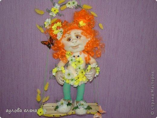 Куклы Шитьё Рыжуля Проволока Ткань фото 2
