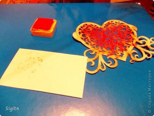 Декор предметов Открытка Украшение Вырезание Штамповка Необычная бумага Бумага Краска фото 2