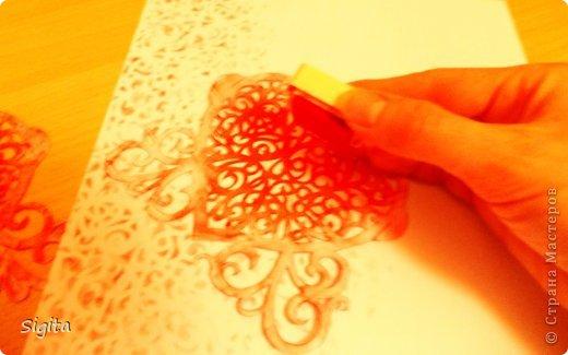 Декор предметов Открытка Украшение Вырезание Штамповка Необычная бумага Бумага Краска фото 1