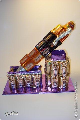 Поделка изделие 23 февраля День рождения День учителя Моделирование конструирование Письменный набор Бумага гофрированная Клей Продукты пищевые фото 1