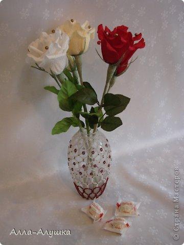 Мастер-класс Свит-дизайн 8 марта День рождения Бумагопластика МК Одиночная роза Бумага гофрированная Продукты пищевые фото 1