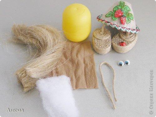 Куклы Шитьё Домовенок из киндер-сюрприза Материал бросовый фото 2