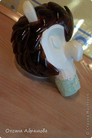 Мастер-класс Поделка изделие Моделирование МК ФИЛИН из пластиковых бутылок Бутылки пластиковые Материал бросовый Пенопласт Проволока фото 18