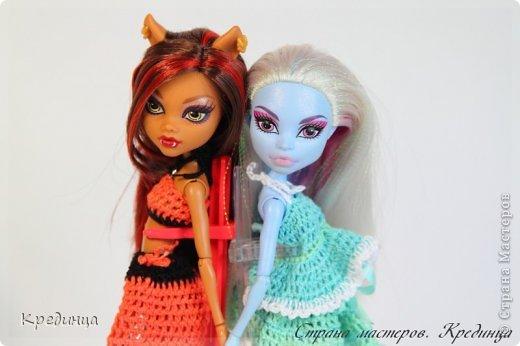 Кукольная жизнь Вязание крючком На конкурс Самый модный Бисер Нитки