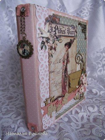 Декор предметов Поделка изделие Скрапбукинг Ассамбляж мини-альбом - блокнот 2 в одном Бумага фото 2