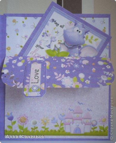 Открытка Скрапбукинг День рождения Аппликация С Днем Рождения моя Принцесса Бумага фото 6