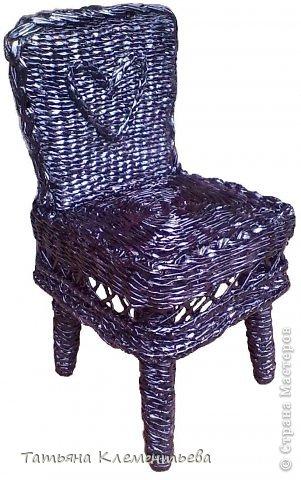 Мастер-класс Поделка изделие Плетение Плетёный стул на выставку Бумага газетная фото 1