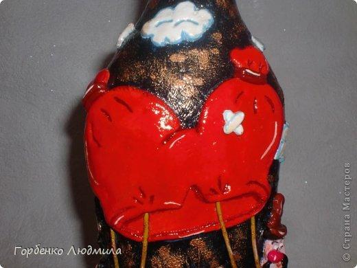 Декор предметов Лепка Бутылки Казаки и Медовые соты Салфетки Тесто соленое фото 20