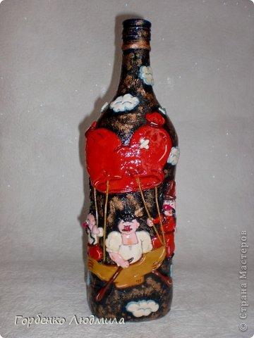 Декор предметов Лепка Бутылки Казаки и Медовые соты Салфетки Тесто соленое фото 16