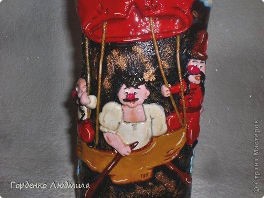 Декор предметов Лепка Бутылки Казаки и Медовые соты Салфетки Тесто соленое фото 22