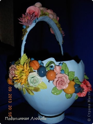 Поделка изделие Пасха Лепка Фарфоровая  ваза своими руками Пасхальная коллекция  Гипс Фарфор холодный фото 3