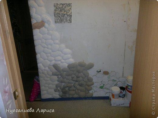 Интерьер Мастер-класс Папье-маше Декор стены камнями Бумага Картон Клей фото 14