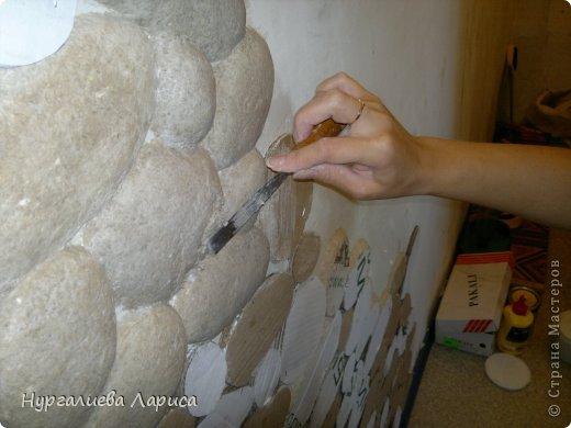 Интерьер Мастер-класс Папье-маше Декор стены камнями Бумага Картон Клей фото 7