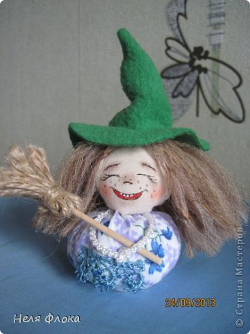 Куклы Мастер-класс Шитьё Озорная ведьмочка  Ткань фото 29